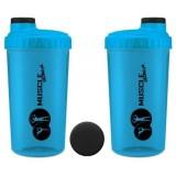 MuscleStore Neon Niebieski Shaker 0,7l