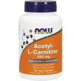 NOW - Acetyl - L-Carnitine 500mg 100 vcaps.