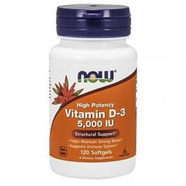 NOW Vitamin D3 5000IU - 120softgels